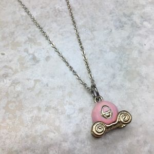 Carriage Necklace Princess Pink Gold